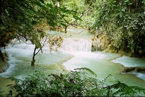 downstream Kuang Si waterfall
