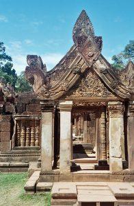 entrance of Banteay Srei temple