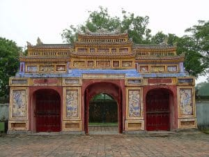 house entrance at Imperiral City in Hue