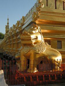 lion guardian at Shwezigon pagoda Bagan