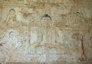 mural painting at temple in Bagan