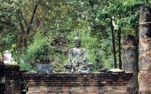 ruin with Buddha image in Sukhothai