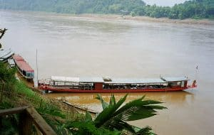 ship on Mekong river in Luang Prabang