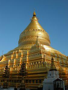 stupa of Shwezigon pagoda in Bagan
