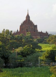 temple in Old Bagan after rainy season