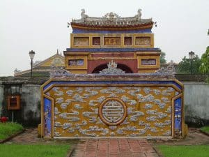 wall decoration at Imperial Site in Hue