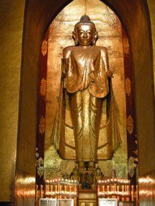 Buddha inside Ananda temple in Bagan