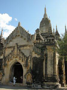 entrance of Gawdawpalin temple in Bagan