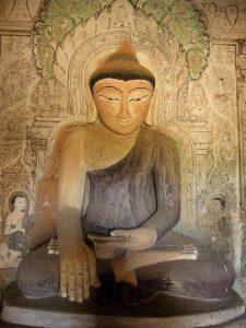 mural with Buddha Upali Thein temple Bagan