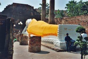 reclining Buddha at Wat Yai in Ayutthaya