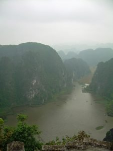 hilltop viewpoint at countryside of Ninh Binh