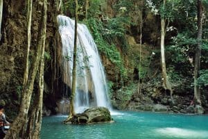 Erawan waterfalls: mid level