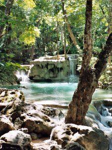 To the Erawan Falls near Kanchanaburi