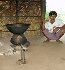 local palm wine distillation near Bagan