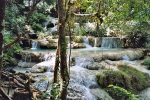 mid level waterfalls at Erawan park