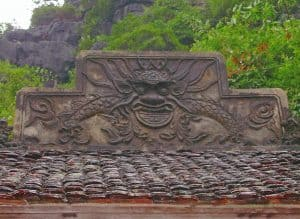 roof decoration at one of the Bich Dong temples