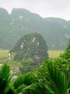 sightseeing in the rain at Ninh Binh