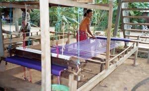 weaving demonstration on Koh Dach island