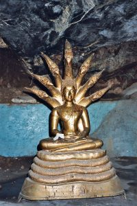 Buddha with nagas in Wat Khao Pun