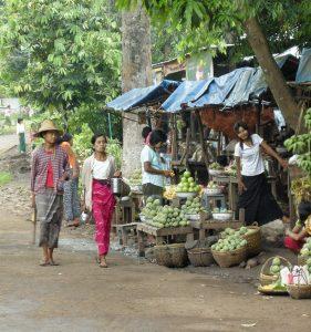 local market in Myanmar