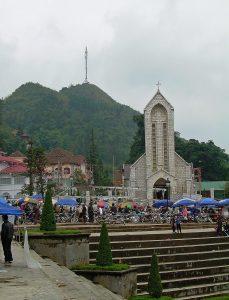 church in the center of Sapa