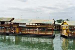 floating disco boats in Kanchanaburi