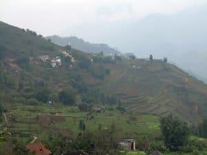 mountains surrounding Sapa