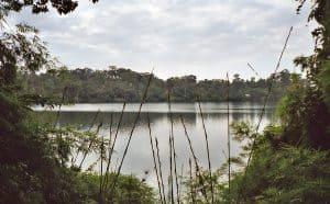volcanic lake near Banlung