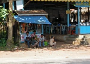 waiting for the bus to Bago