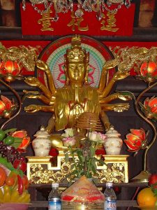 gold sculpture at Old Pillar Pagoda