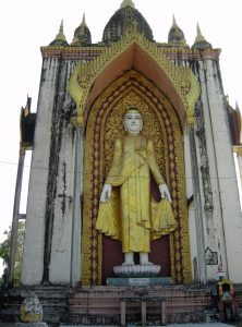 monumental standing Buddha in Bago