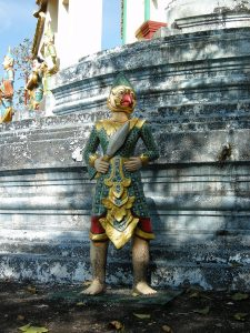 temple guardian in Bago