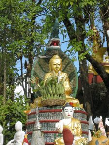 Buddha with Naga shrine at Kyaiktyio