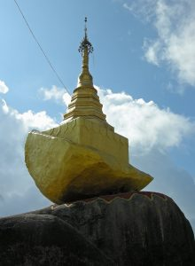 Golden Rock Pagoda in Kyaiktyio