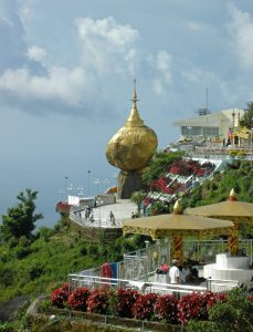 Golden Rock pilgrimage site in Myanmar