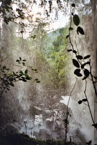 behind the Cha Ong waterfall in Banlung
