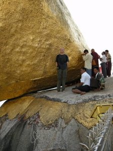 posing at Golden Rock