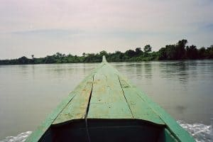 trip to Chunchiet graveyard in a small boat
