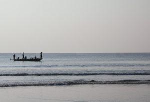 fishermen arriving at Bay of Bengal in Myanmar