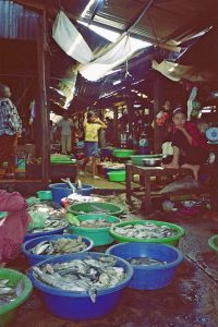 fresh fish at Sihanoukville central market