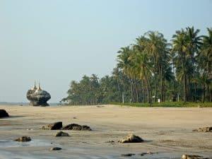 miniature temples at Ngwe Saung beach