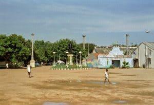deslolated square on my Pondicherry tour
