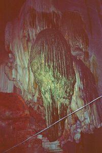 stalagmites in Phnom Chnok cave
