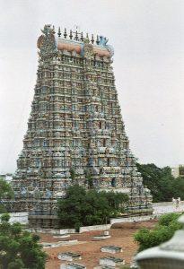 rooftop view of Meenakshi temple