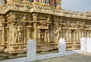 sculpture detail at Srirangam site