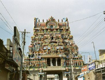 temple highlights in Trichy entrance gate