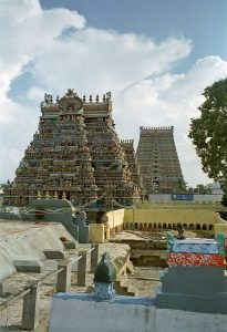view of Srirangam temple from the roof