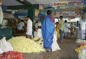 Madurai covered flower market