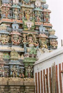 details of Shiva sculptures in Madurai