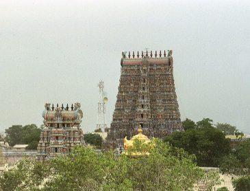 rooftop view Meenakshi temple complex